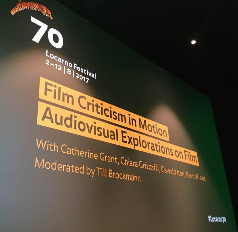 Video essays and roundtable at the 70th Locarno Festival